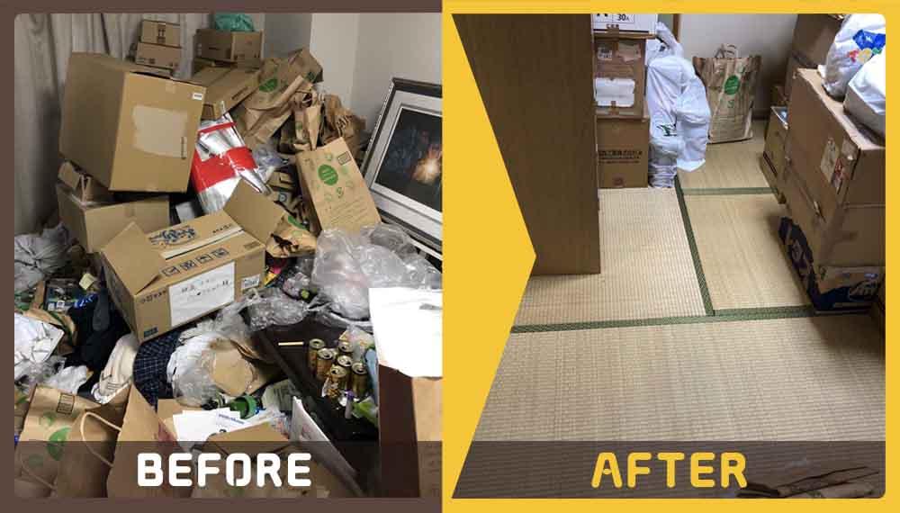 お住まいの修繕が急遽必要になったお客様より、ご不用品(雑貨、家庭ごみなど)の処分でご依頼頂きました。
