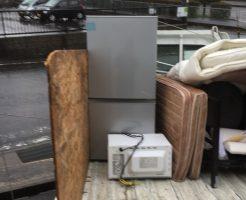 草津市野路東で冷蔵庫、電子レンジ、ベッドパッドなどの回収事例