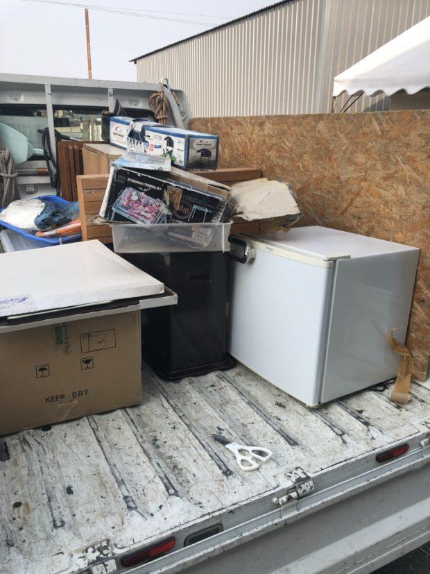 大津市瀬田で2トントラック一杯程度の不用品回収 施工事例紹介