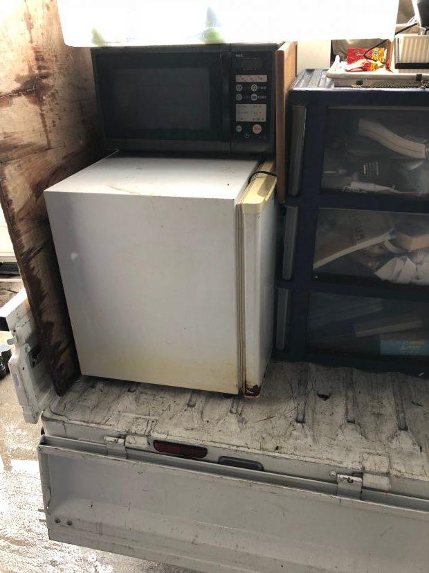 大津市大江でシングルベッド、冷蔵庫など引っ越しに伴う不要品回収 施工事例紹介