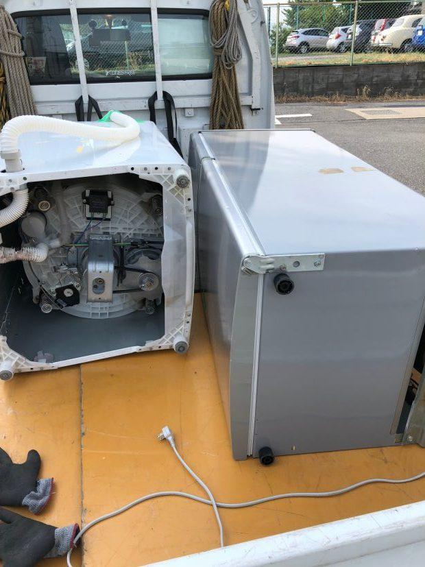 【草津市野路町】洗濯機・冷蔵庫の回収☆お電話から1時間でお伺いし、素早い対応にご満足いただけました!