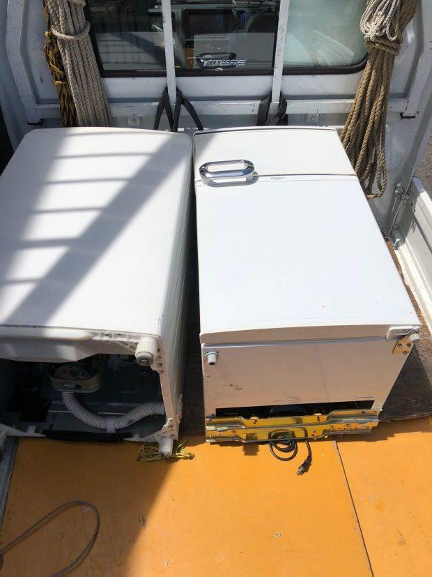 【草津市上笠】冷蔵庫と洗濯機の回収☆対応の早さ、作業の早さに満足していただくことができました!