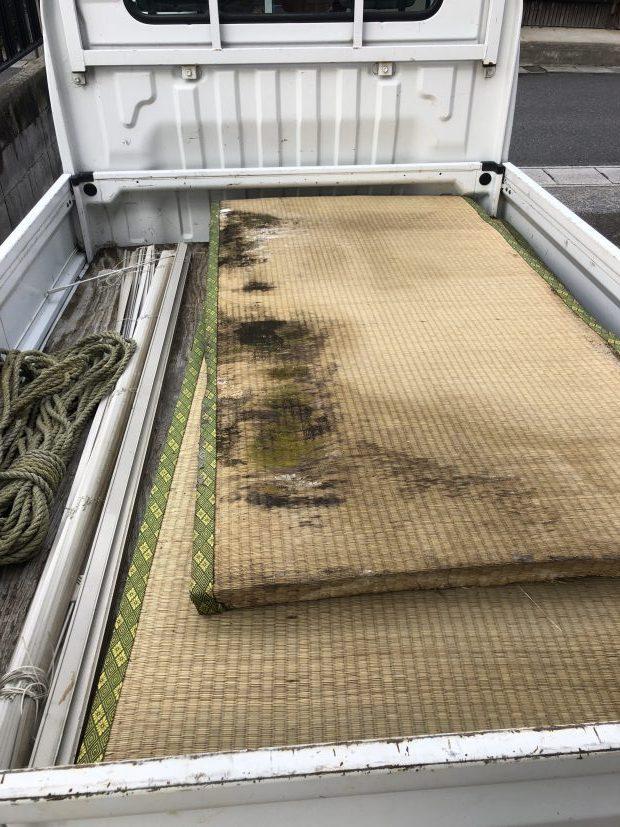 【近江八幡市】雨で濡れた畳の回収☆回収費用や作業の早さにご満足いただけました!