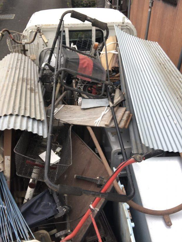 【長浜市】耕運機など2トントラック1台分の不用品回収☆ご希望の日程での対応にご満足いただけました!