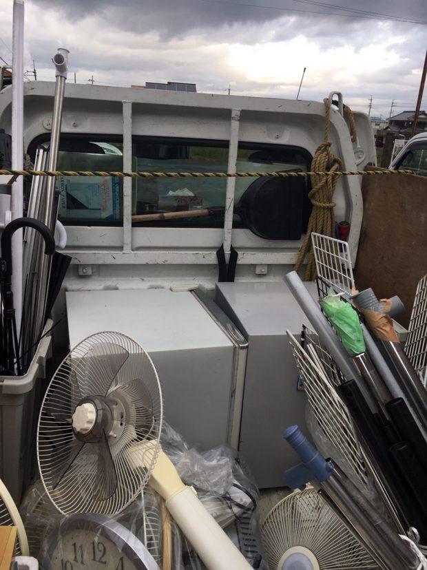 【大津市玉野浦】冷蔵庫、衣装ケースなど軽トラック1台分の不用品回収☆大幅に増えてしまった不用品もすべて回収しご満足いただけました。