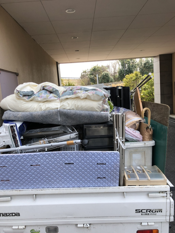 【栗東市】軽トラック1台分の不用品回収☆ご家族からの紹介でのご依頼で、安心してお願いできたとお喜びいただけました!