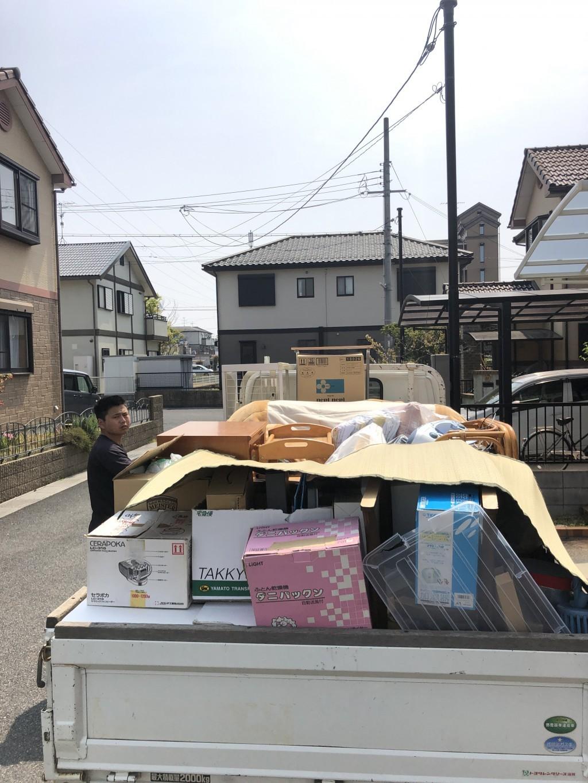 【守山市二町町】引っ越しの際の不用品回収☆2tトラック積み放題パックにご満足いただけました!