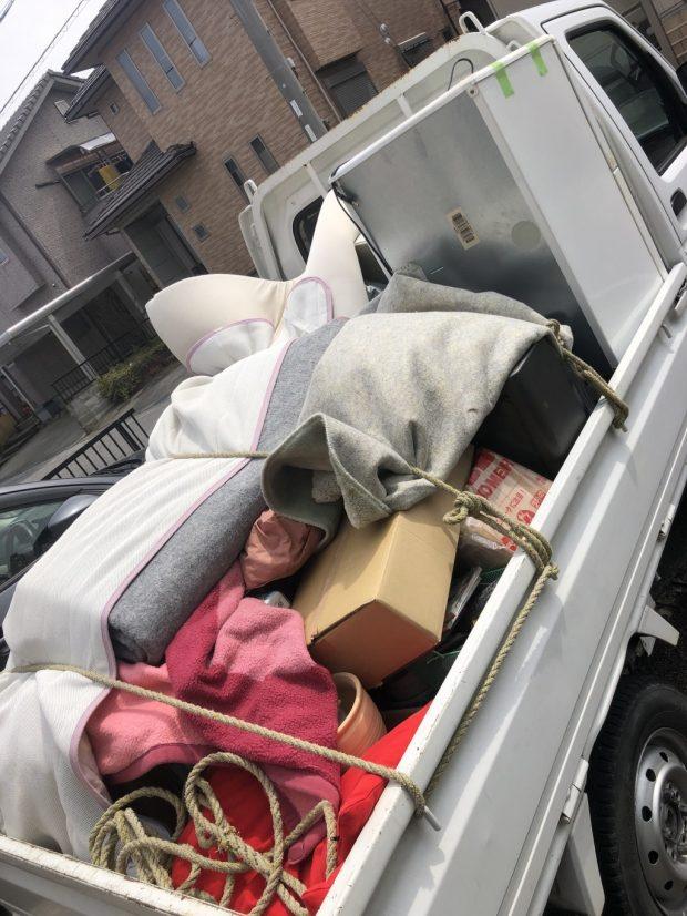 【彦根市地蔵町】軽トラック1台程度の不用品の回収☆不用品の追加にも対応できる積み放題プランで大量の不用品を処分でき、お客様に喜んでいただけました!