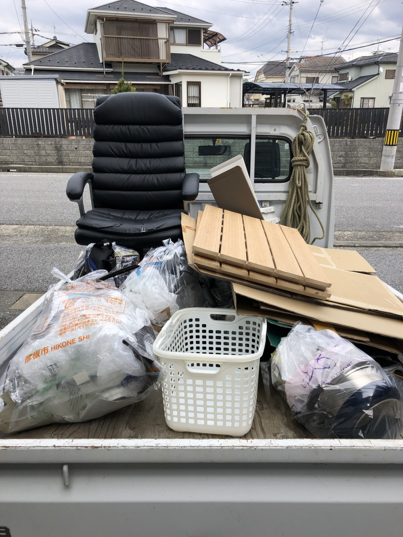 【彦根市長曽根南町】軽トラック一台分の出張不用品回収・処分ご依頼