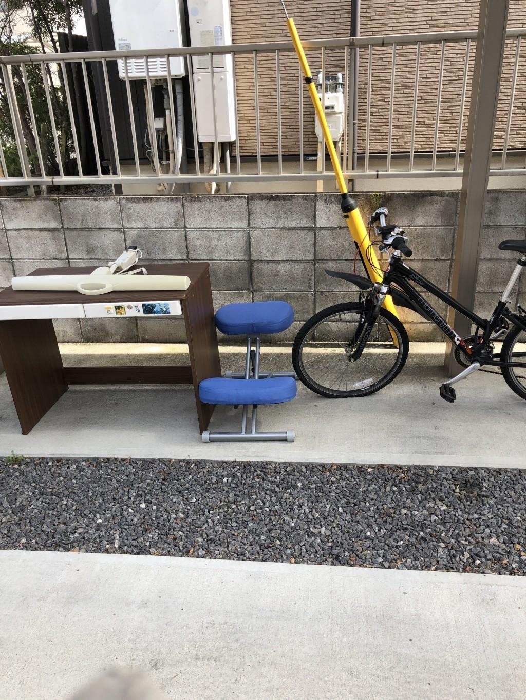【草津市矢橋町】学習机や子供用自転車の回収処分ご依頼 お客様の声