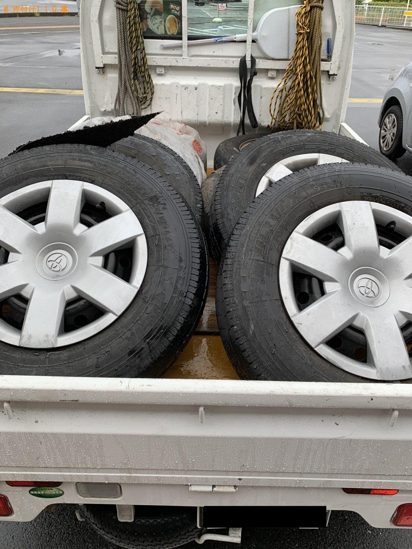 【守山市小島町】タイヤの出張不用品回収・処分ご依頼 お客様の声