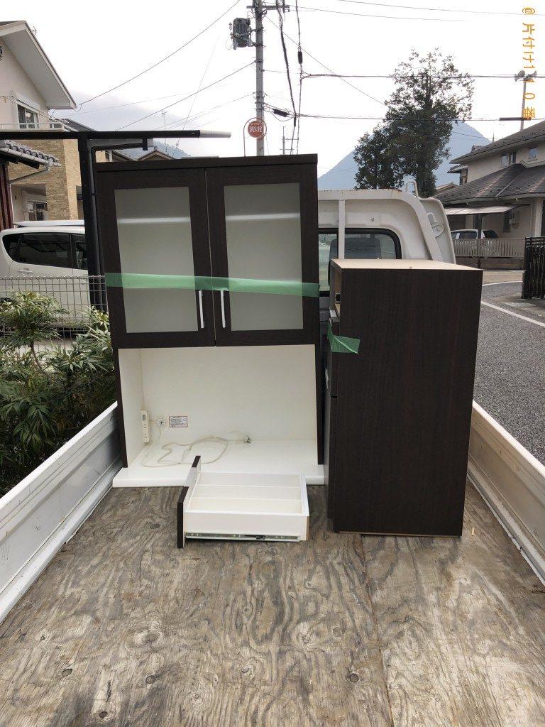 【野洲市】食器棚1台の出張回収処分ご依頼 お客様の声