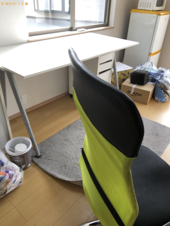 【大津市】ベッド、布団、PCデスク、椅子などの出張不用品回収・処分ご依頼