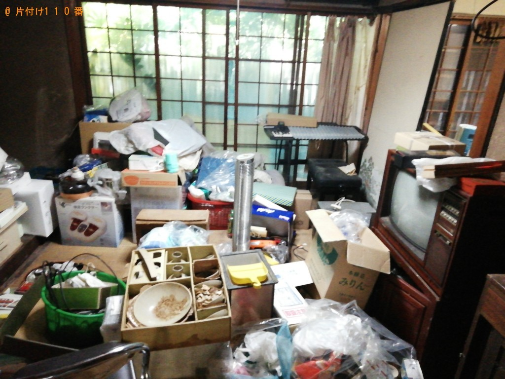 【大津市田辺町】一軒家にある家財道具一式の出張不用品回収・処分ご依頼