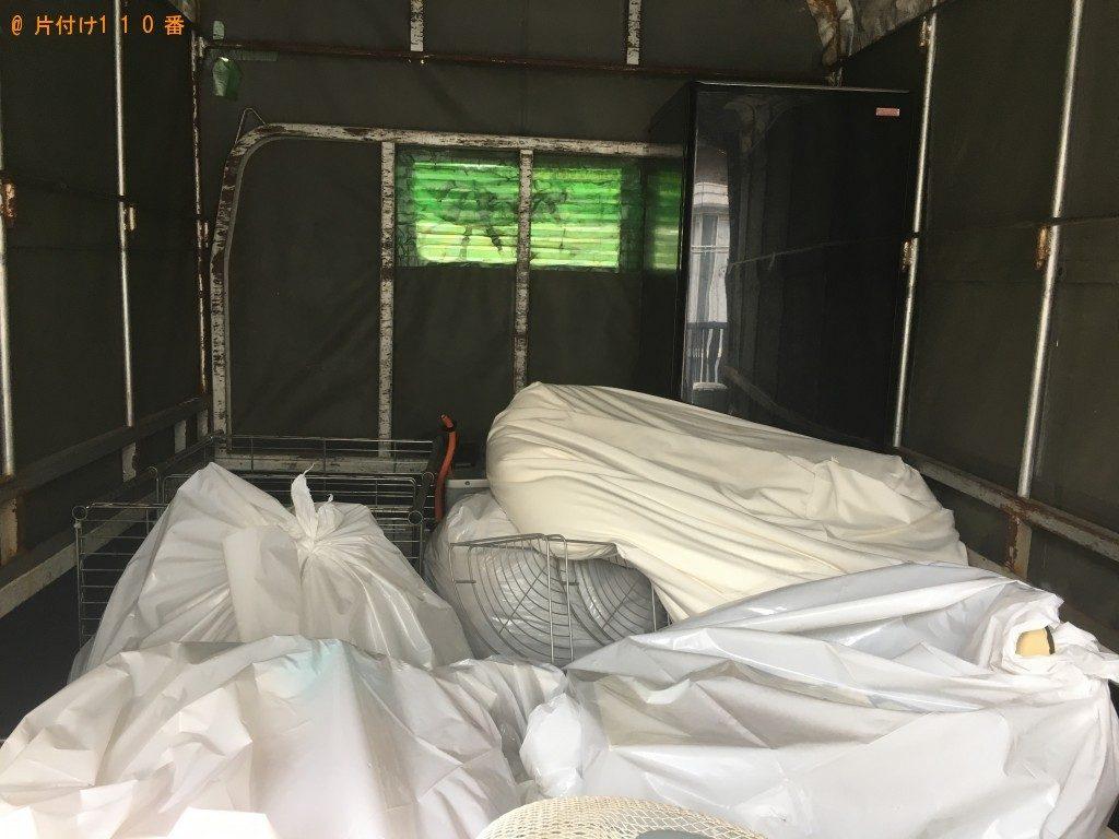 【稲城市】冷蔵庫、扇風機、ラックなどの出張不用品回収・処分ご依頼
