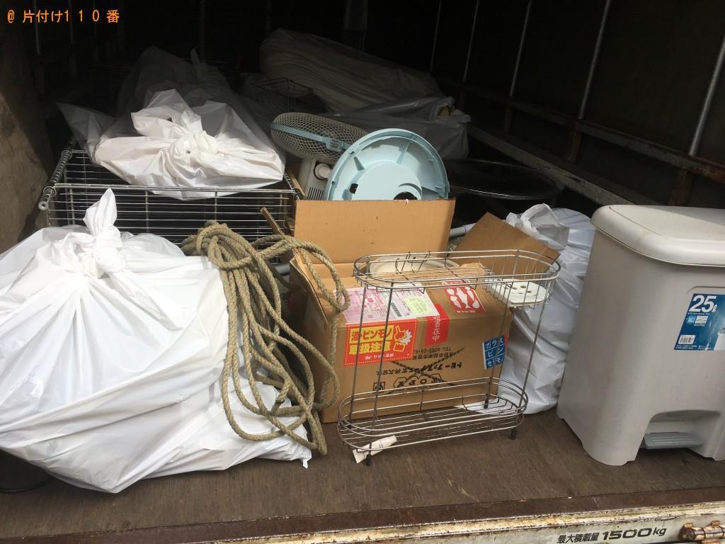 【甲賀市甲南町】冷蔵庫、扇風機、ラックなどの出張不用品回収・処分ご依頼