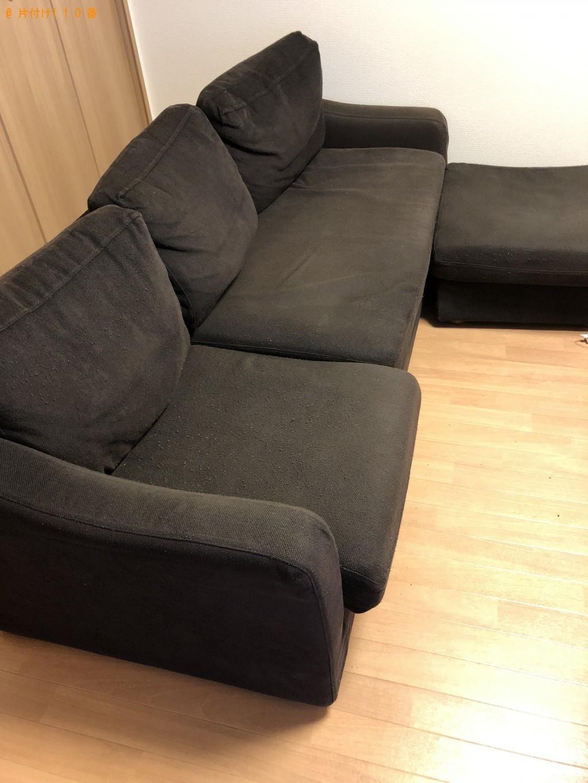 【甲賀市水口町】シングルベッドとソファーの回収・処分 お客様の声