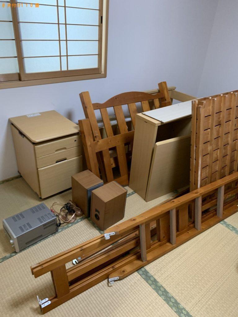 【栗東市】学習机・二段ベッド・コンポ・椅子の回収・処分ご依頼