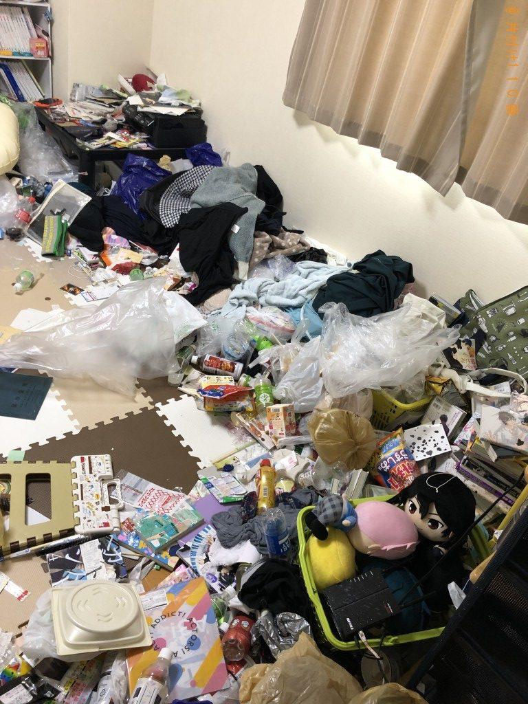 【甲賀市水口町】シングルベッド等の回収と部屋の片づけ作業ご依頼