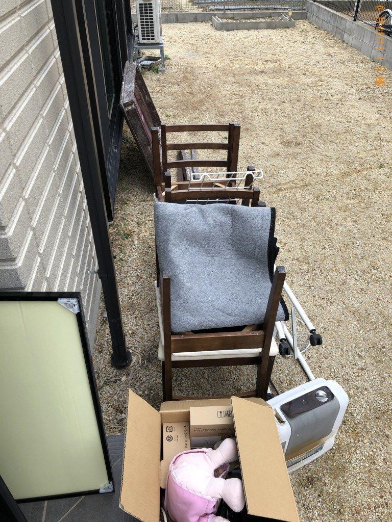 【野洲市】テレビ、椅子等の回収・処分ご依頼 お客様の声