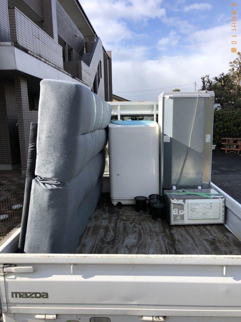 【長浜市口分田町】洗濯機、電子レンジ、冷蔵庫の回収・処分ご依頼