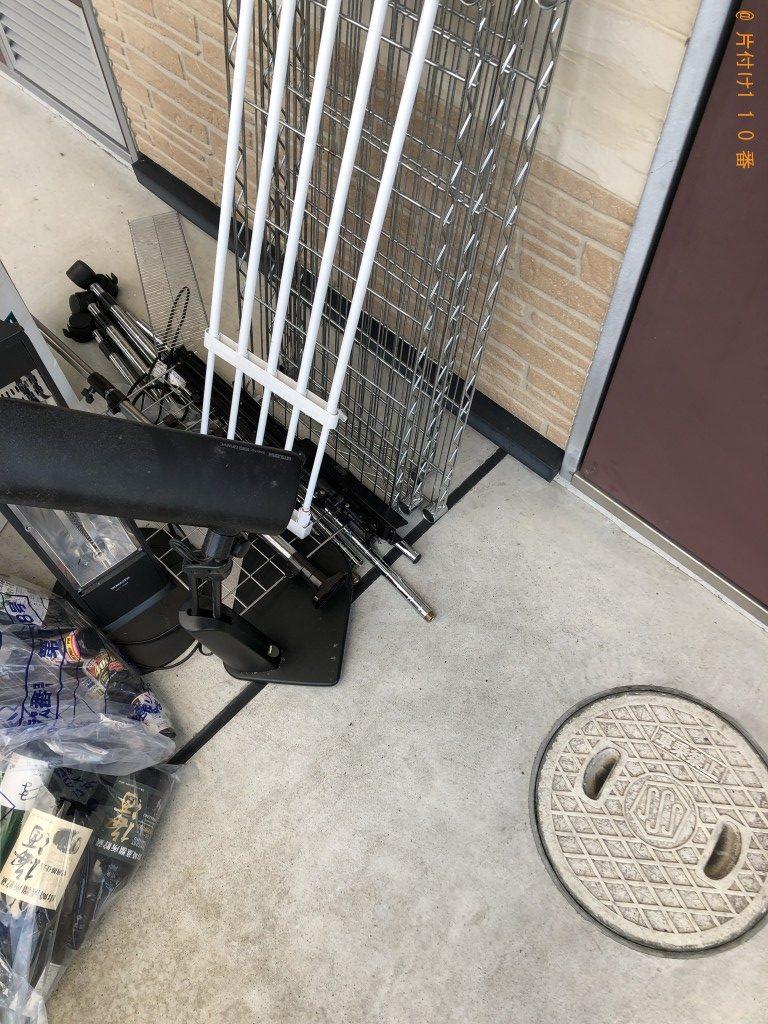 【大津市】プリンタ複合機、ファンヒーター、スチール棚等の回収