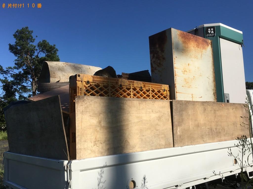 【大津市】キャビネット、屋外トイレ、大型のゴミ箱等の回収・処分