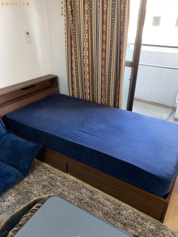 【草津市青地町】シングルベッド、ソファーの回収・処分ご依頼