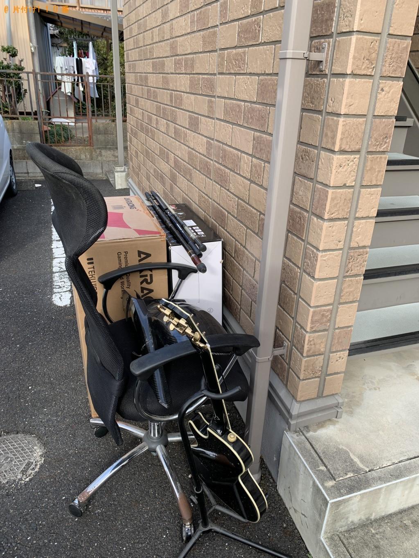 【甲賀市水口町】オフィスチェア、ギター、ギターのスタンド等の回収