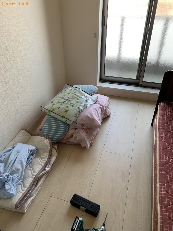 【大津市】セミダブルベッド、布団、枕の回収・処分ご依頼
