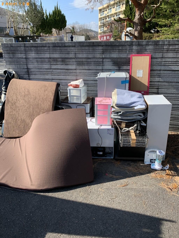 【湖南市】冷蔵庫、炊飯器、シングルベッドマットレス等の回収・処分