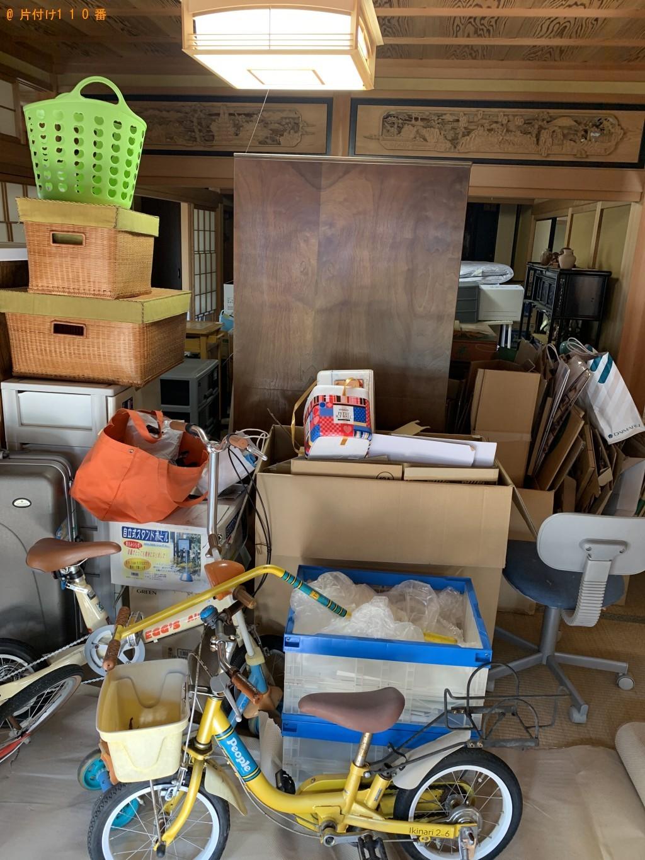 【守山市】子供用自転車、整理タンス、椅子、布団等の回収・処分