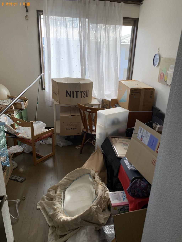 【湖南市】シングルベッド、テーブル、椅子、タンス等の回収・処分