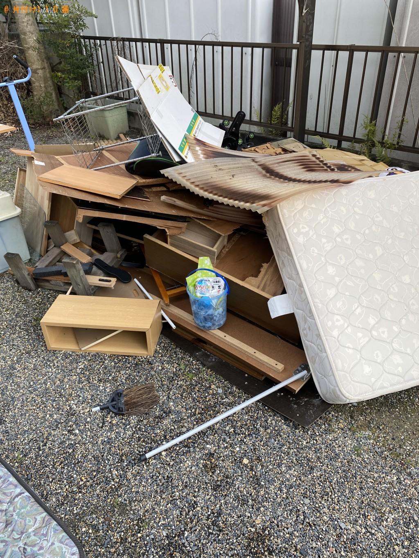 【湖南市】整理タンス、シングルベッドマットレス等の回収・処分