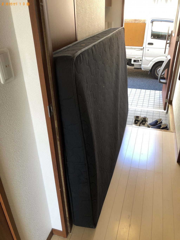 【東近江市垣見町】セミダブルベッド、ベッドマットレスの回収・処分