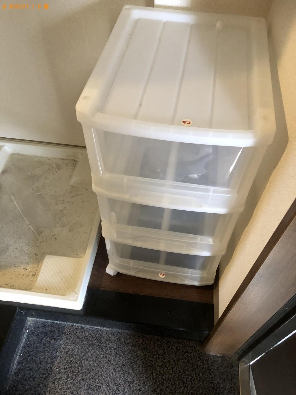 【大津市】食器、布団、三段の収納ケースの回収・処分ご依頼