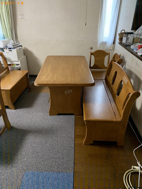 【草津市】整理タンス、食器棚、シングルベッドの回収・処分ご依頼