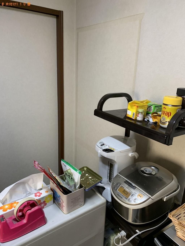 【大津市】スチールラック、コンポ、食器棚等の回収・処分ご依頼