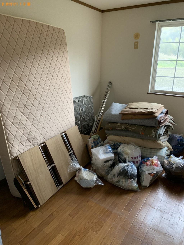 【大津市】こたつ、食器棚、シングルベッド、マットレス等の回収