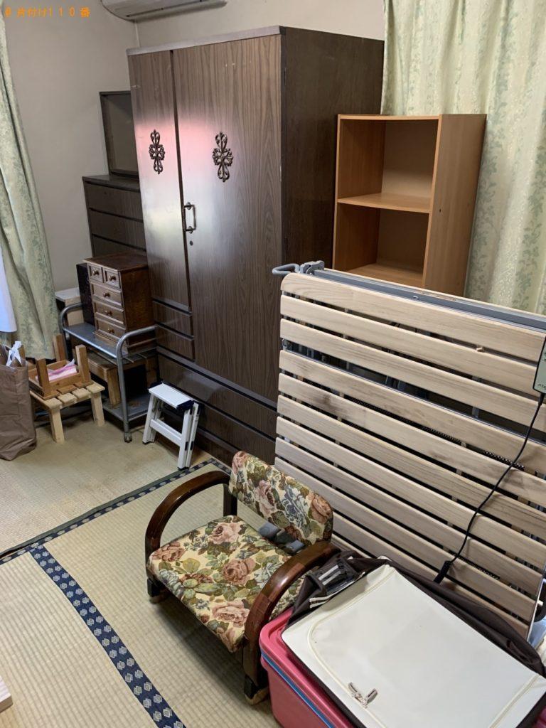 【日野町】タンス、折り畳みベッド、鏡台、カラーボックス等の回収