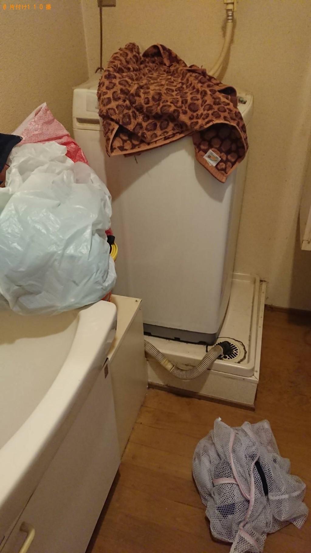 【栗東市】洗濯機、カラーボックス、扇風機等の回収・処分と草刈り