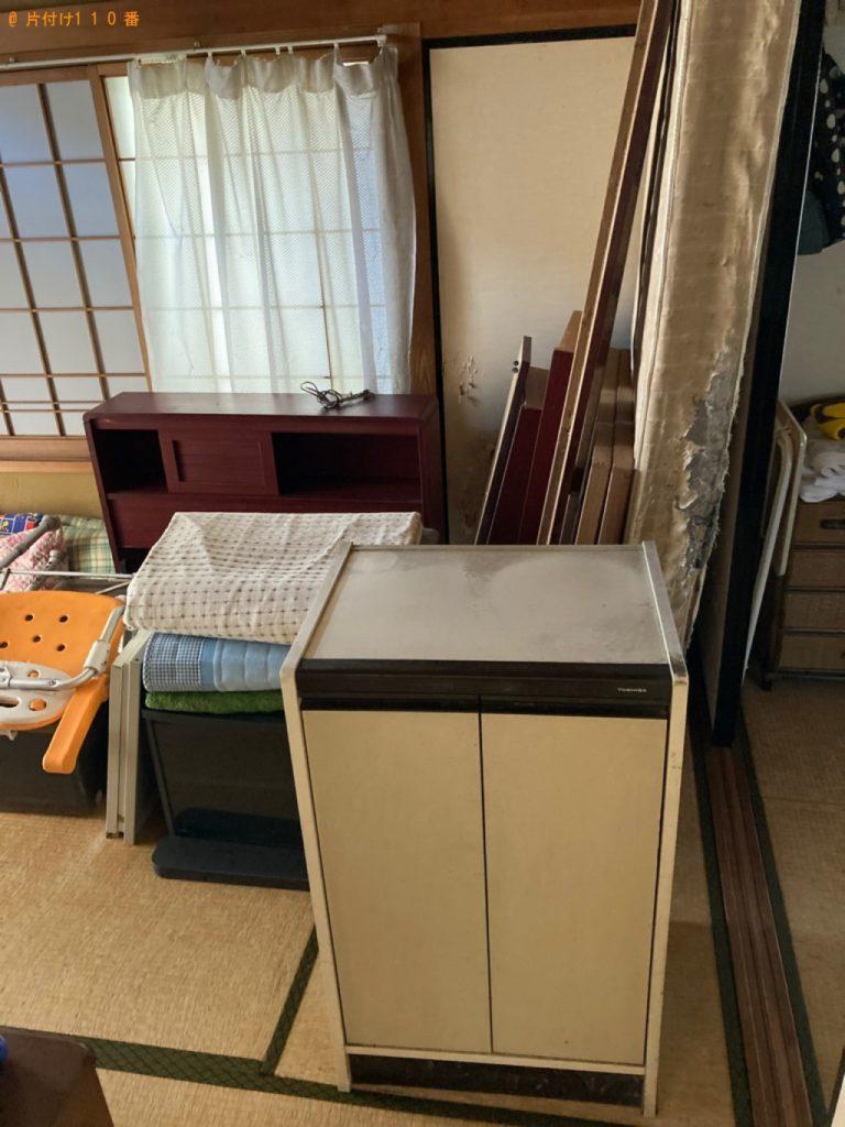 【あきる野市】タンス、食器棚、シングルベッド等の回収・処分ご依頼