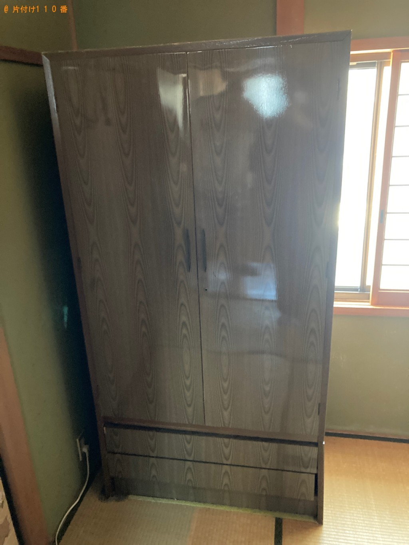 【大津市】タンス、食器棚、シングルベッド等の回収・処分ご依頼
