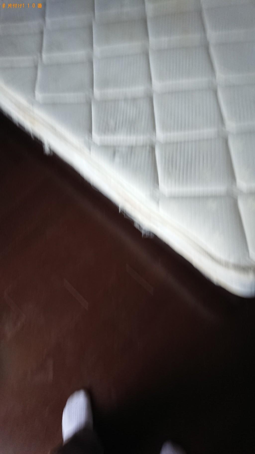 【大津市】セミダブルベッド、ベッドマットレスの回収・処分ご依頼