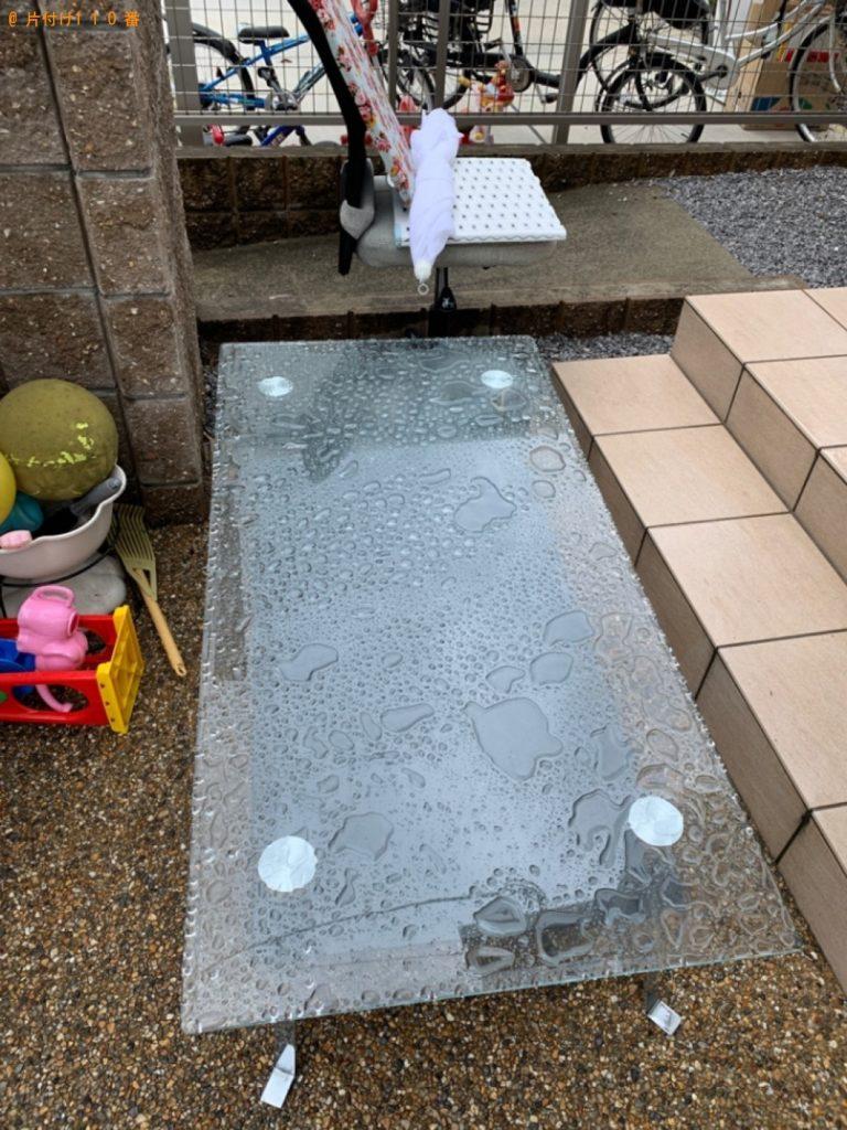 【彦根市】ガラステーブル、ウレタンマットレス等の回収・処分ご依頼