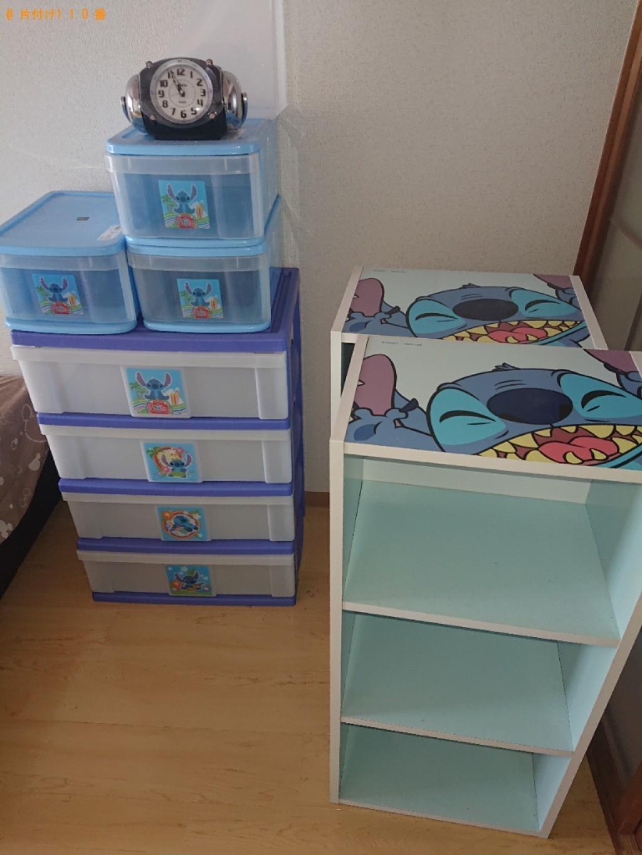 【東近江市】本棚、衣装ケース、シングルベッド等の回収・処分ご依頼