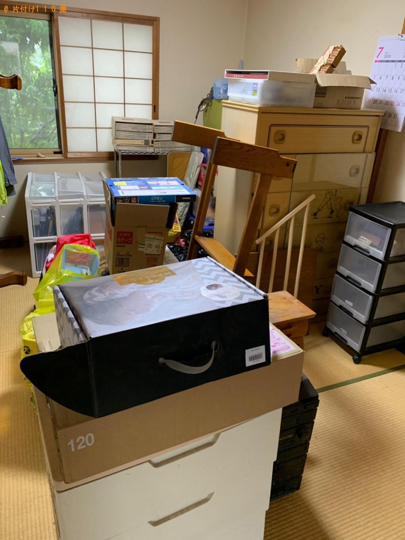 【甲賀市水口町】タンス、ガラステーブル、コンポ等の回収・処分