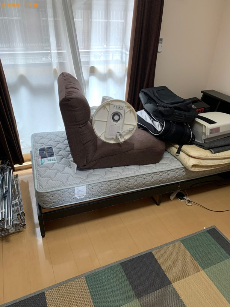 【品川区】タンス、シングルベッド、布団、ベッドマットレス等の回収
