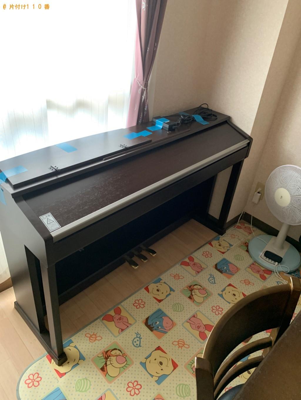 【大津市】電子ピアノ、セミダブルベッドの回収・処分ご依頼