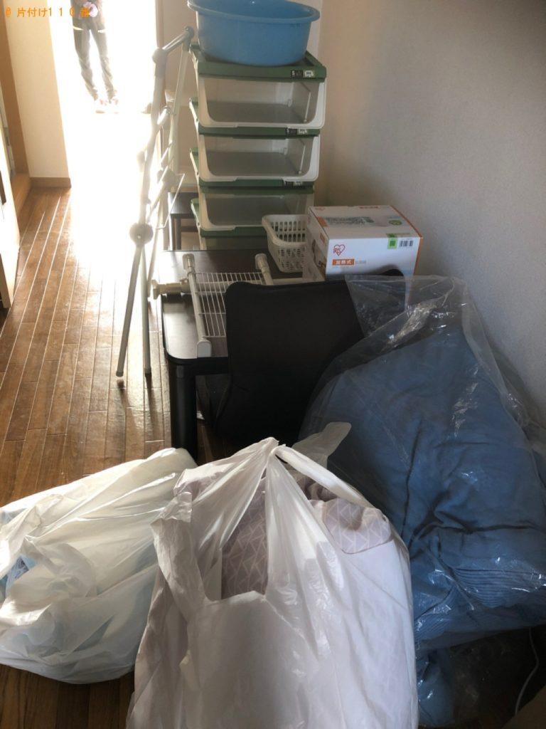 【田原市】遺品整理に伴い洗濯機、こたつ、カラーボックス等の回収・処分ご依頼